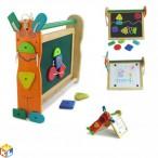 Двусторонняя доска для рисования с набором фигурок на липучках I'm Toy
