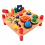 Игрушка стол развивающий - деревянная