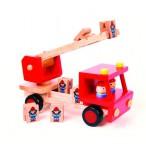 Деревянная развивающая игрушка 'Пожарная команда'.