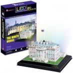 """Пазл 3D """"Белый дом. Вашингтон"""" с иллюминацией"""
