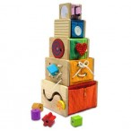 Im Toy Набор развивающий для изучения цвета, форм и размеров (5 ящиков-кубов)
