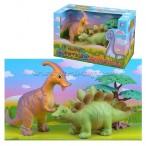 1toy В мире животных Мультяшки наб. Динозаврики 3шт. 18см кор. try-me 3 в.