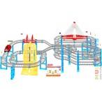 Автотрек Гонщик с лифтом и двумя мостами