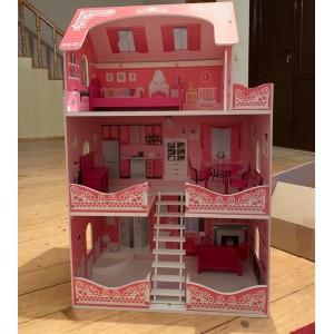 Кукольный домик  , с мебелью .
