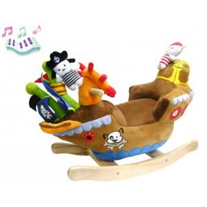 Мягкая меховая качалка «Корабль с пиратами»