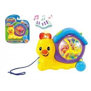 Музыкальная игрушка «Улитка» (на веревочке)